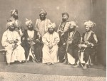 Maharajah and his retinue, c1865