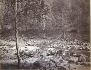 Cane Bridge over the 'Runjeet' Below Darjeeling