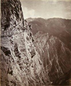 The Thibet Road across the Rogi Cliffs